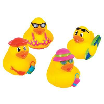 SET OF 4 BUTTERFLY WINGS RUBBER DUCK NOVELTY FUN TOY COLLECTABLE KIDS GIFT IDEA