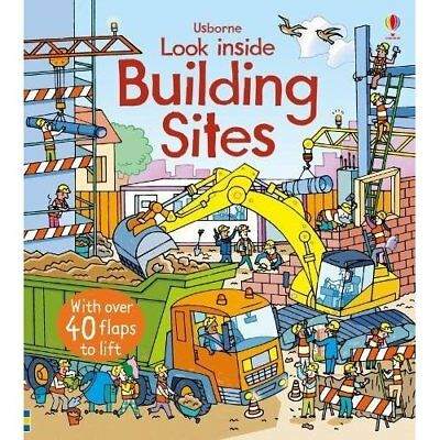 Look Inside a Building Site - Board book NEW