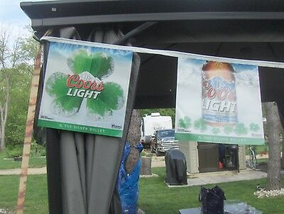 Coors Light  Clover String Banner Flags 27' BEER SIGN