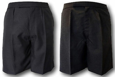 Grey & Charcoal School Uniform Short Trousers With COTTON Lining - Adult Sizes