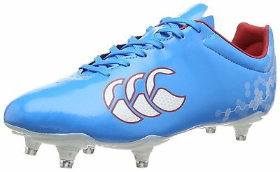 Canterbury Speed Club 6 SG Men's Soft Ground Rugby Boots Synthetic Upper Blue