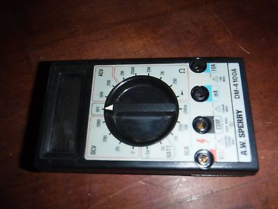 Good Used A.W. Sperry Digital Multimeter DM-4100A - Free Shipping