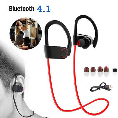 Bluetooth Earbuds Best Wireless Headphones Running Sports Gym Headsets W/ Mic US