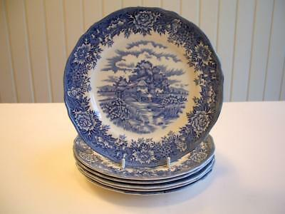 """Salem China Co. English Village 6 x 8"""" Lunch Plates - NEW? UNUSED? * other items"""
