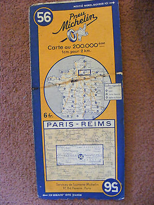 Michelin Pilote map Number 56 of France (Paris - Reims) - good Condition