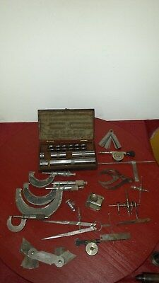 LOT Starrett Brown Sharpe Mitutoyo Measuring Tool BLOCK GAUGE MICROMETER CALIPER