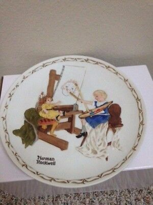 Norman Rockwell   The Artist's Daughter 1980  First Edition collector plate