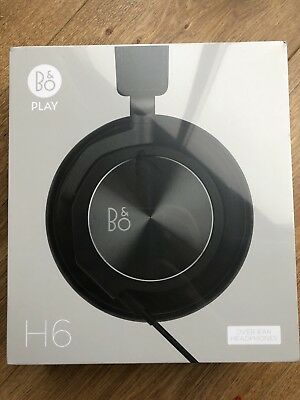 B&O Play by Bang and Olufsen Beoplay H6 Headphones Black Leather Gen 2 BNIB