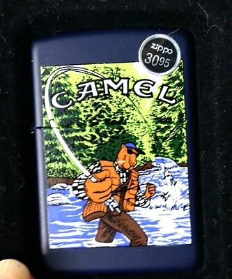 "Original Zippo Camel Joe Camel, Fishing  Cigarette Lighter "" SEALED"""