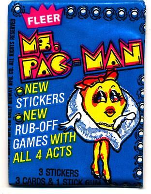 MS. Pac-Man Game Trading Card Pack