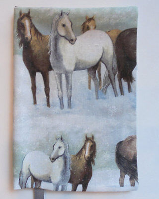 Paperback Book Cover for Standard Size Paperback Book Horse Print Fabric Horse