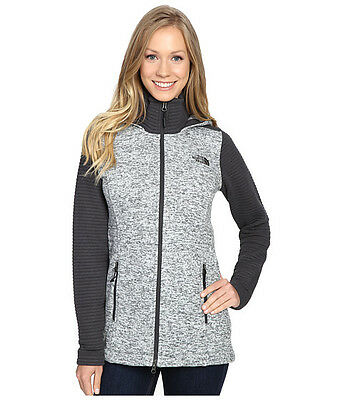 New Womens North Face Indi Insulated Hoody Jacket Parka  Grey White Black