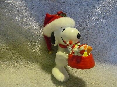 New Snoopy Christmas Ornament With Tag