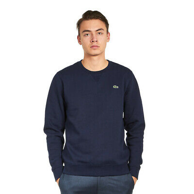 Lacoste - Brushed Fleece Sweater Navy Blue Pullover Rundhals