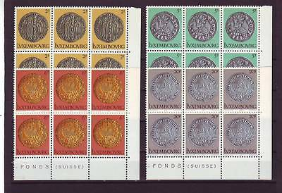 Luxembourg - Sg1040-1043 Mnh 1980 Medieval Coins In State Museum - Blocks Of 6