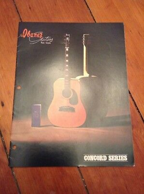 Vintage Ibanez Flat Tops Guitars Concord Series Catalog Brochure