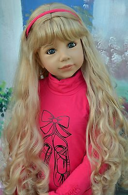 Masterpiece Dolls Christina, Long Blonde Wig, Fits Up to 20-inch Head