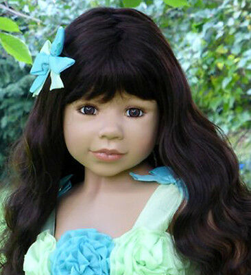 Masterpiece Dolls Princess and Pea Brunette Wig Fits Up To 21-Inch Head