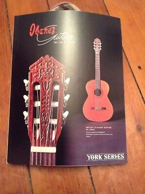 Vintage Ibanez Guitars Flat Tops & Classics York Series Catalog Brochure