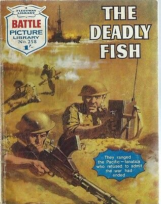 The Deadly Fish,battle Picture Library,no.258,war Comic,1966