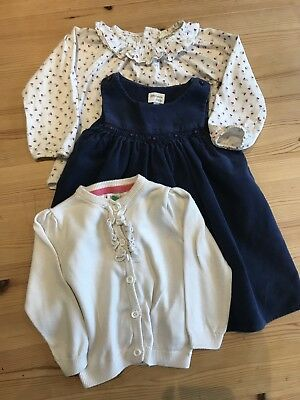 Baby Girls John Lewis Cord Smocked Pinafore Dress Outfit 6-9 Months