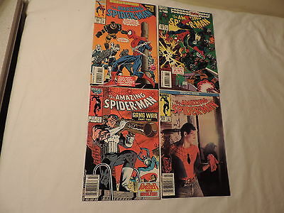 4 Old Marvel Amazing Spiderman Comic Books #262,285,383,384 Superhero Comics