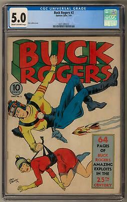 Buck Rogers #2 CGC 5.0 (C-OW) Dick Calkins Cover