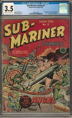 Sub-Mariner Comics #2 CGC 3.5 (C-OW) Stan Lee Text Story