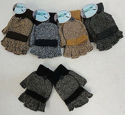 Adult Variegated Fingerless Gloves With Mitten Flap**your Choice, Great Quality
