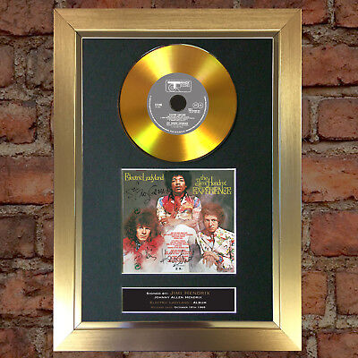 GOLD DISC JIMI HENDRIX Electric Ladyland Signed Autograph Mounted Photo A4 #132