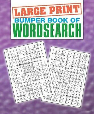 Bumper Book of Wordsearch (Large Print Puzzles) Paperback Book The Cheap Fast