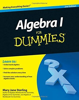 Algebra I For Dummies, 2E by Sterling, Mary Jane Paperback Book The Cheap Fast