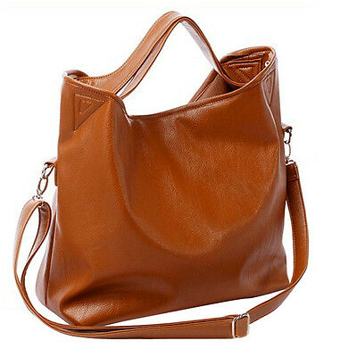 Vintage Ladies Celebrity PU Leather Tote Crossbody Shoulder Bag Handbag New
