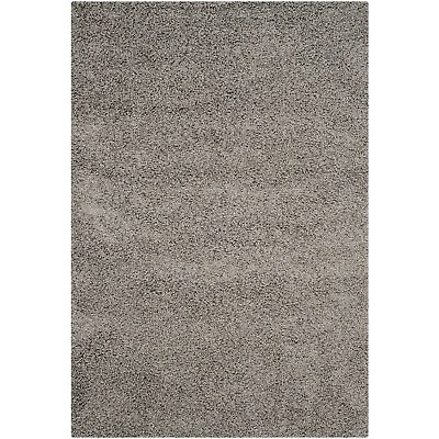 Safavieh Athens Shag Collection 5 x 7 Foot Indoor Carpet Area Rug, Light Grey