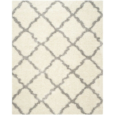 Safavieh Dallas Shag Collection 5 x 7 Foot Indoor Carpet Area Rug, Ivory/Grey