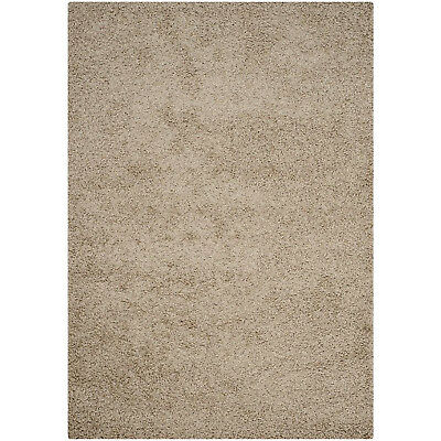 Safavieh Athens Shag Collection  5 x 7 Foot Indoor Carpet Area Mat Rug, Beige