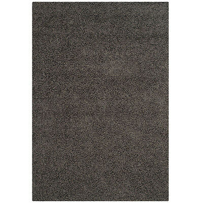Safavieh Athens Shag Collection 5 x 7 Foot Indoor Carpet Area Rug, Dark Grey