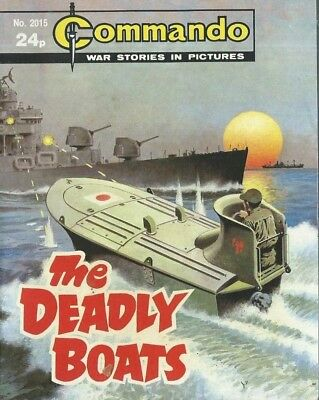 The Deadly Boats,commando War Stories In Pictures,no.2015,war Comic,1986