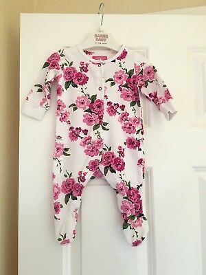 Joules Baby Girls Babygrow Age 0-3 Roses Print Lovely On