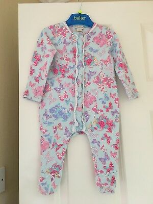 Monsoon Baby Girls Babygrow Outfit Age 3-6 Months Vgc Lovely Butterflies Rabbits