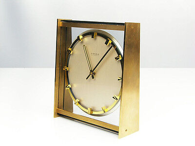 Beautiful Later Art Deco Modernism  Bauhaus  Desk Clock  Kienzle Automatic
