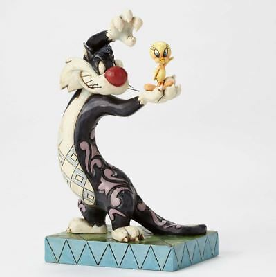 Jim Shore Looney Tunes Tawt I Taw a Puddy Tat Sylvester Tweety Figurine 4049386