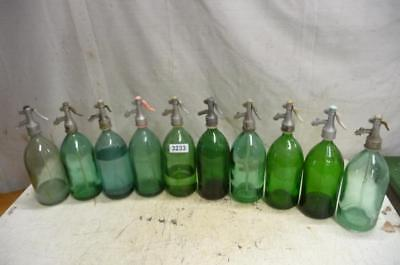 3233. 10 alte Sodaflaschen Siphonflasche Old soda siphon seltzer