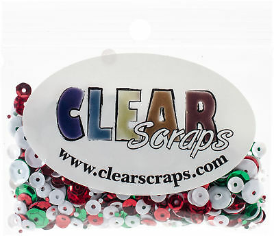 Clear Scraps Sequin Multi Pack 350 To 400 Pieces-Holiday