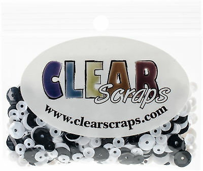 Clear Scraps Sequin Multi Pack 350 To 400 Pieces-Wedding