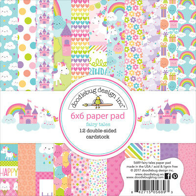 "Doodlebug Double-Sided Paper Pad 6""X6"" 24/Pkg-Fairy Tales"