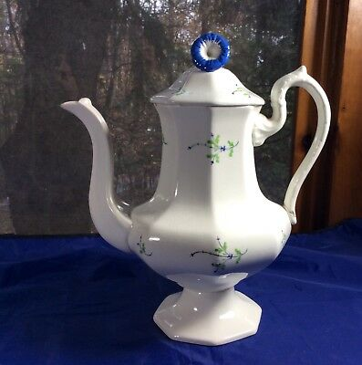 Antique Early 19th Century Teapot-Sprig And Morning Glory