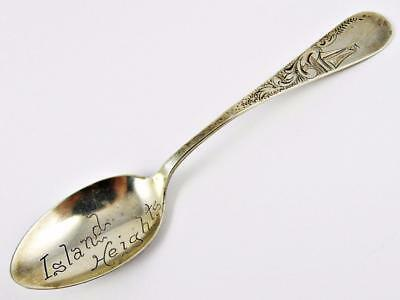 Antique Island Heights, New Jersey Demitasse Sterling Souvenir Silver Spoon