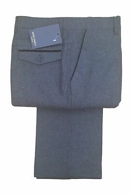 Mens Marc Darcy Vintage Formal Tweed Trousers - Mason Charcoal