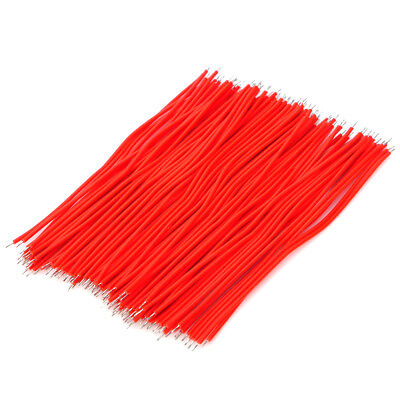 100 PCS 95mm Dual-Head Tinned Breadboard Jumper Cable Wires for PCB - Red